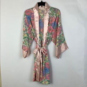 Vintage Victoria Secret VS Robe Bride Floral Pink